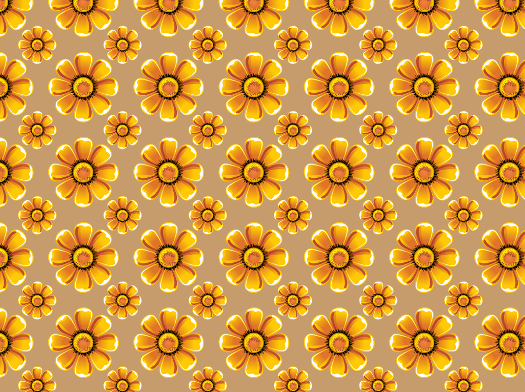 Sunflowers Vector Pattern