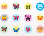 Butterfly Vector Badges