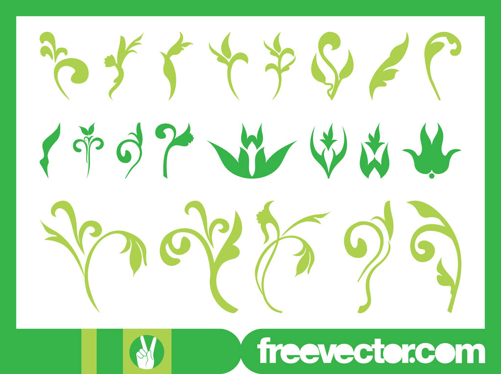 Floral Ornaments Graphics Set