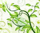 Fresh Leaves Vector Background