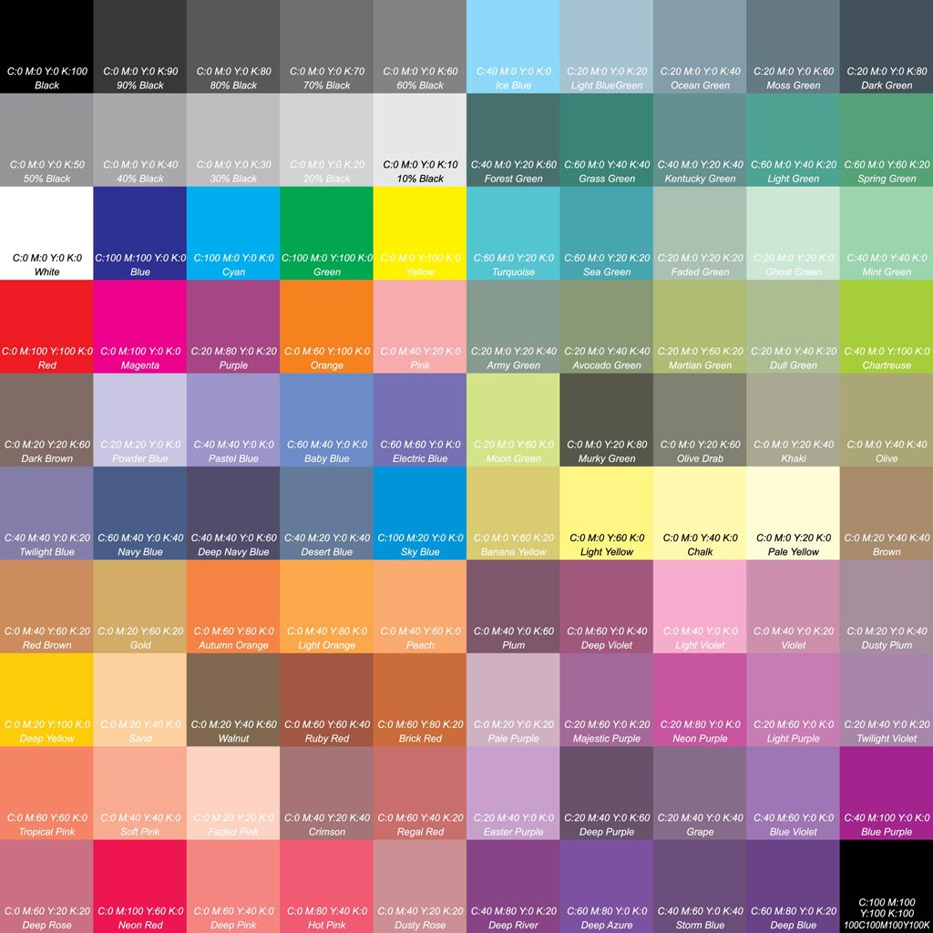 Colors Collection Vector Art & Graphics