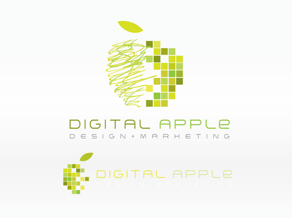 Digital Apple Logo