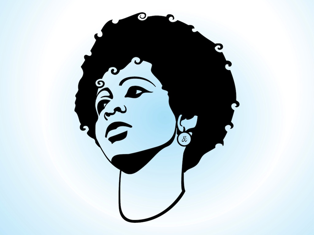 Afro Hair Vector Girl With Afro Hair