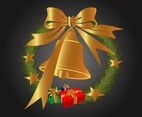 Golden Christmas Bell