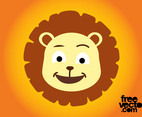 Cartoon Lion Head