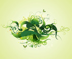 Green Swirling Plants