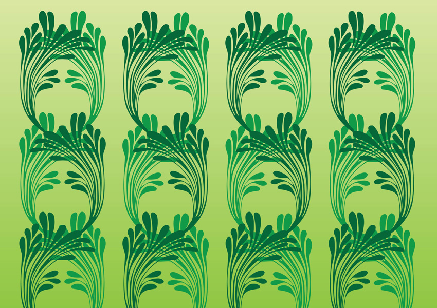 Art nouveau vector pattern for Art nouveau shapes