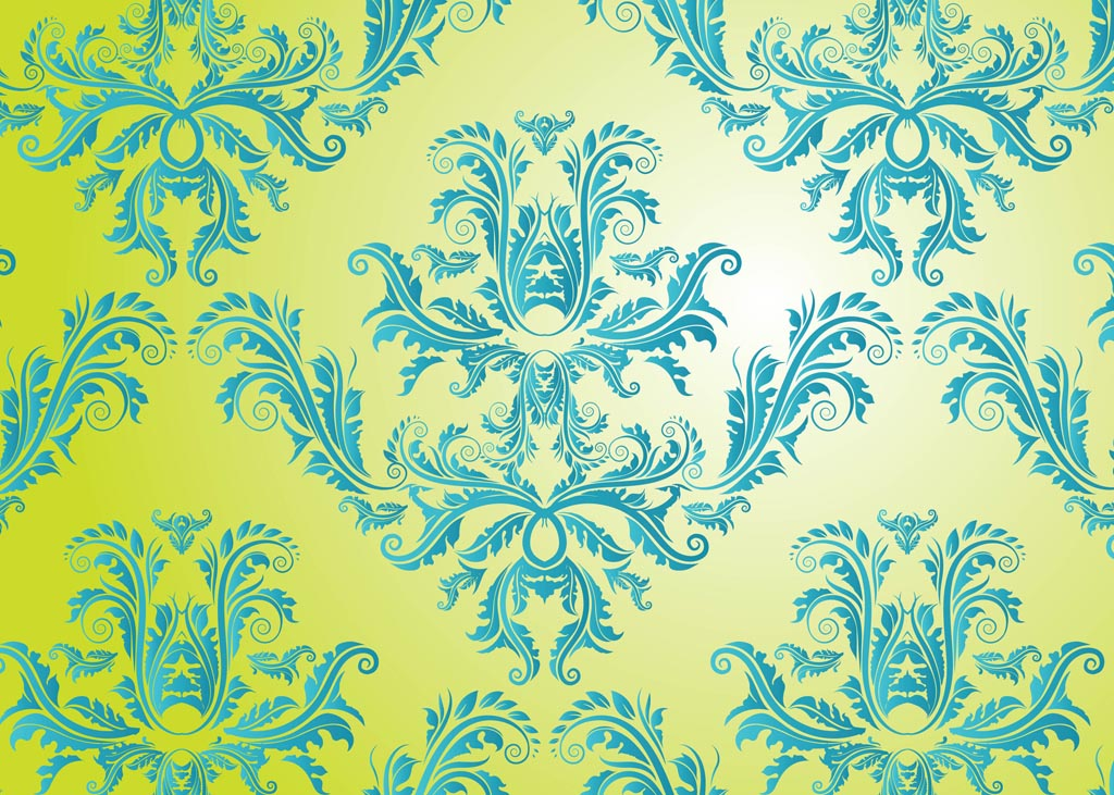 Free Damask Vector Pattern