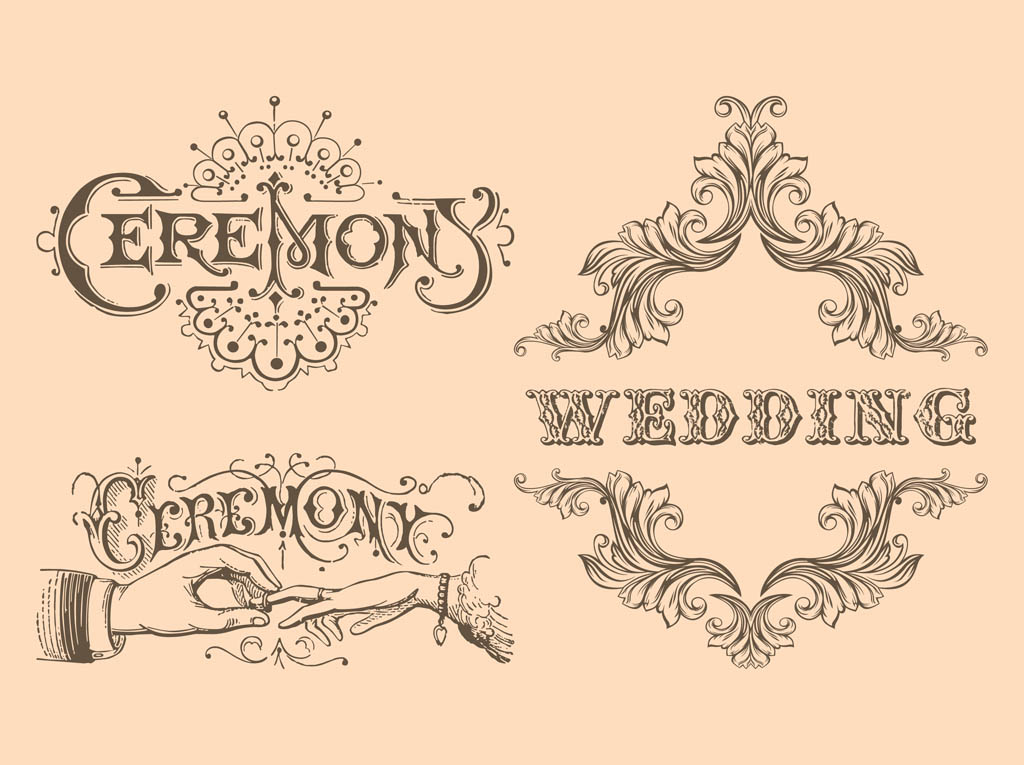 Retro Wedding Vectors