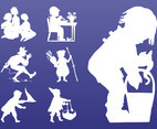 Kids Silhouettes Graphics