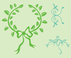 Plant Wreath Vector