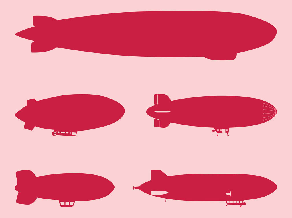 Blimp Silhouettes Set