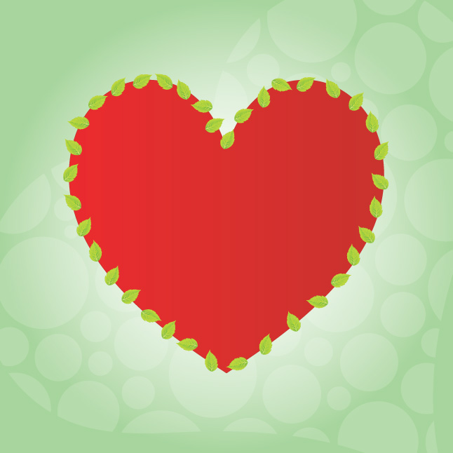 Leaf Heart Vector