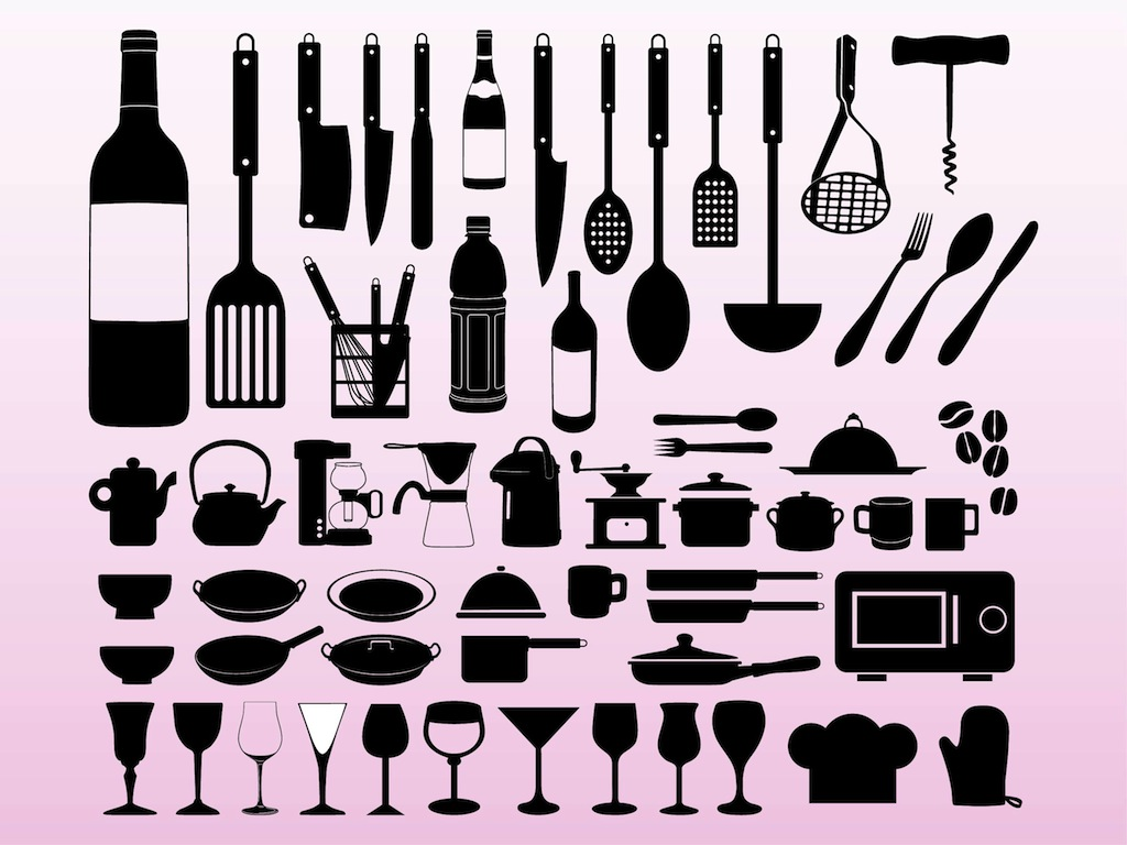 Cooking designs vector art graphics for Kitchen design vector