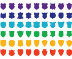 Colorful Shields Set