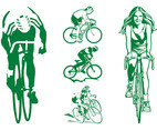 Cycling People Graphics