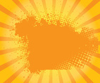 Orange Grungy Sunburst Vector