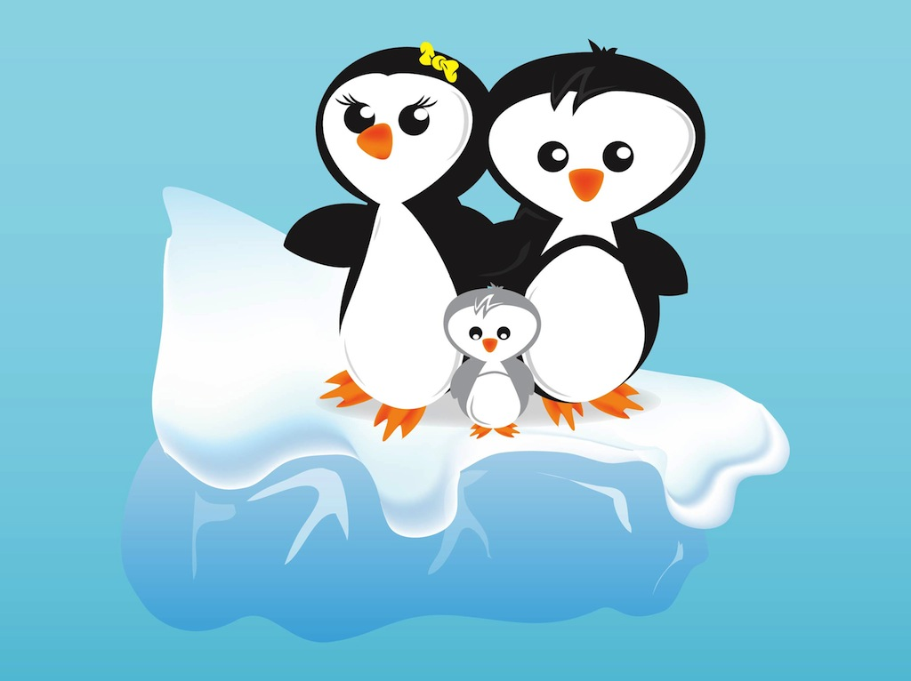 Cartoon Penguins Vector Art Graphics Freevector Com