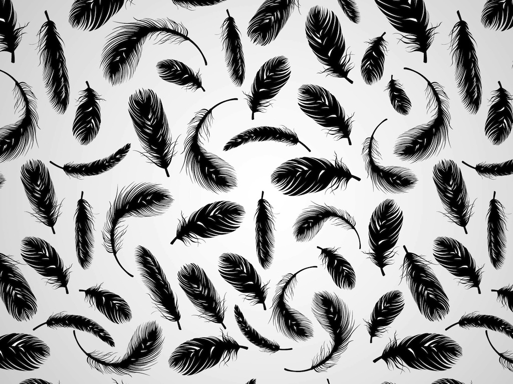 feather pattern wallpaper