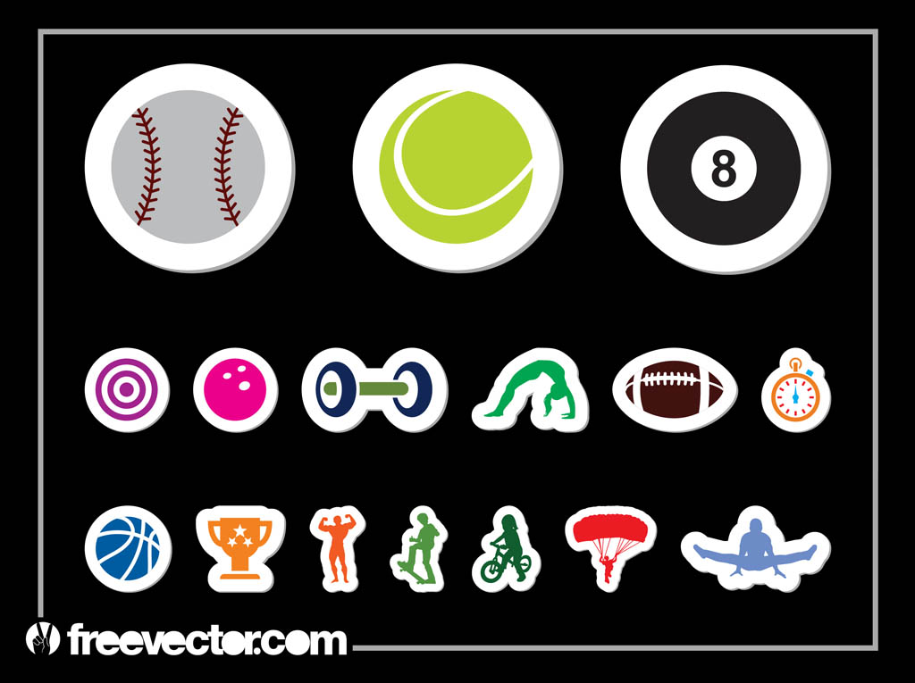 Sports Sticker Set