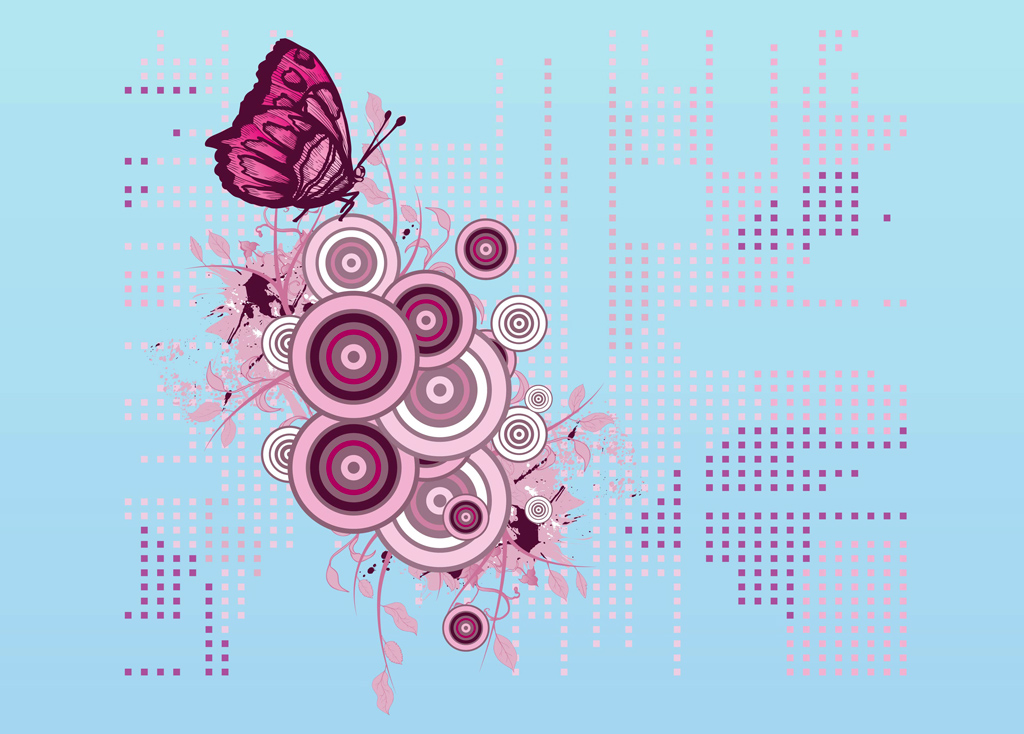 Butterfly Decoration Vector