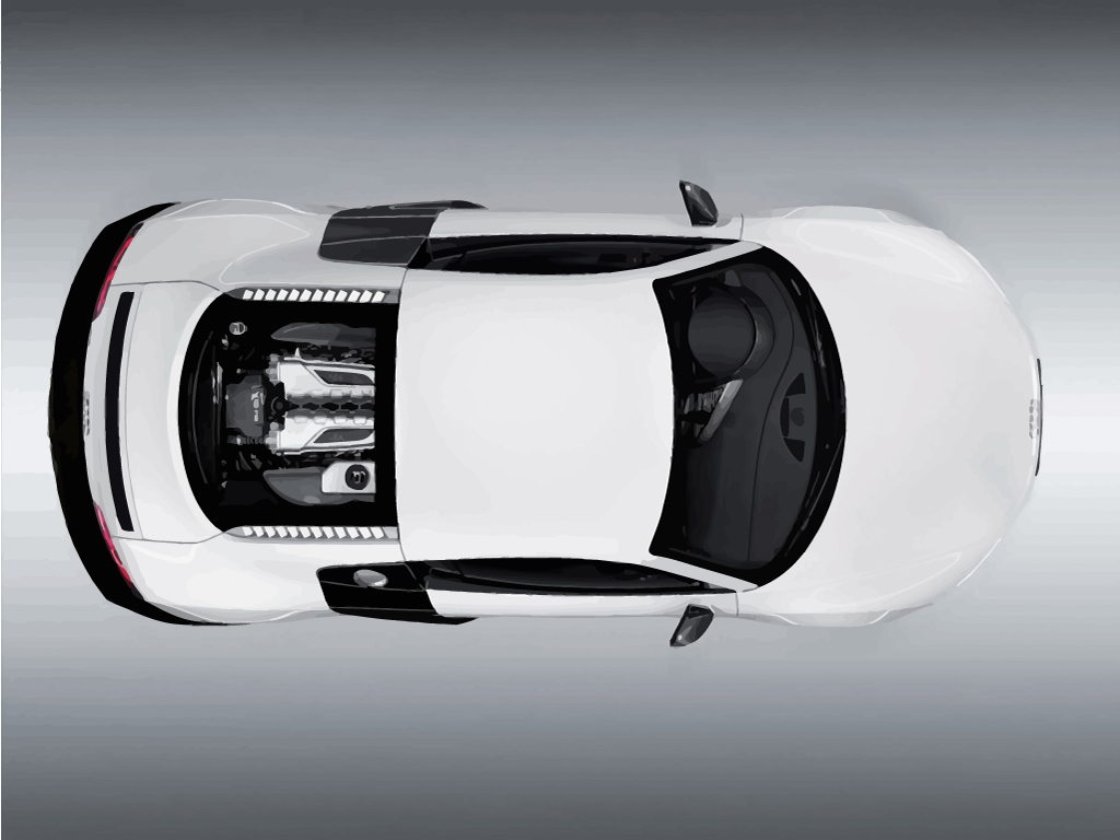 audi r8 top view white audi r8 racecar viewed from the top vector ...