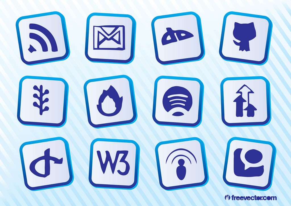 Social Website Vectors