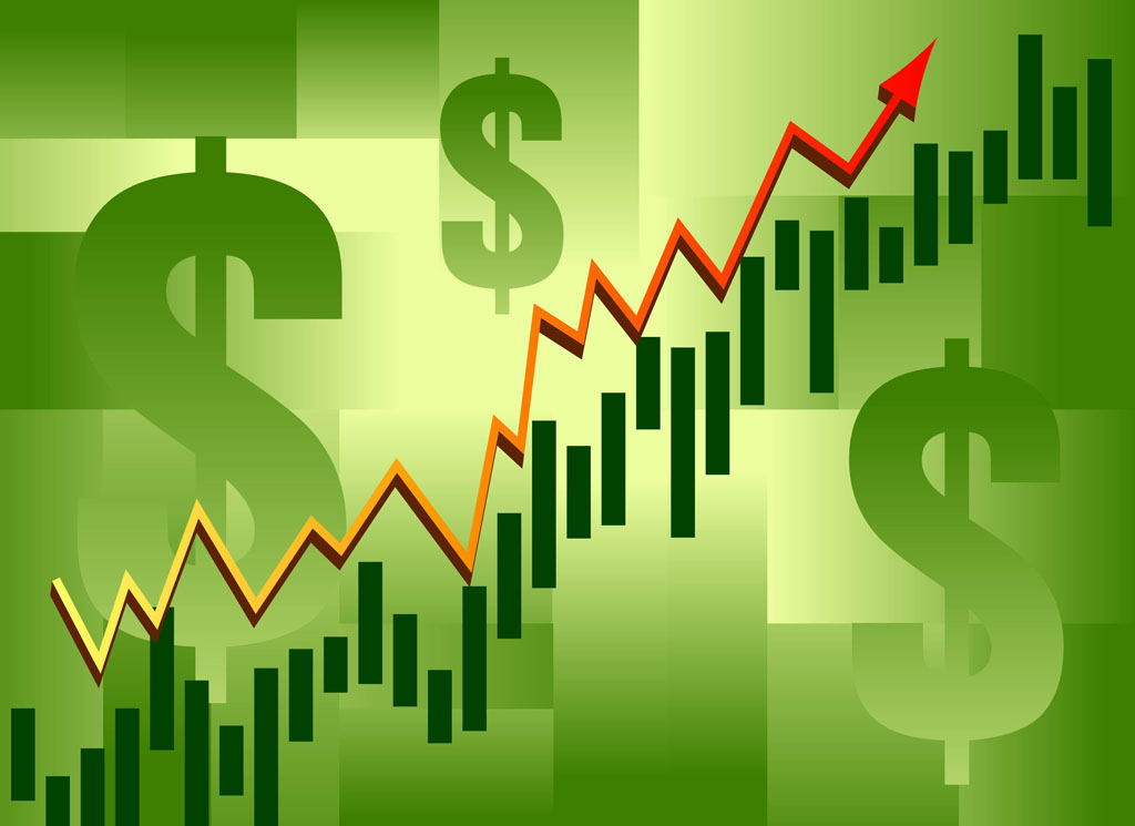 Stock market trading graphic background animation of chart