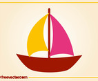 Stylized Sailboat Vector