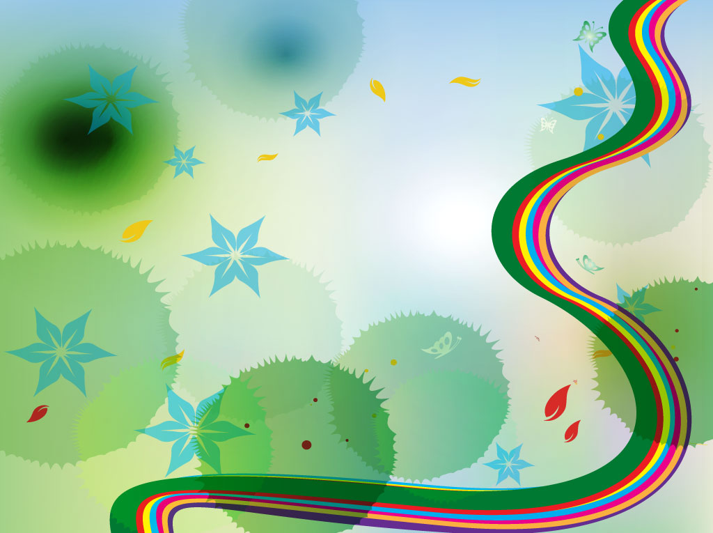 Rainbow Nature Background