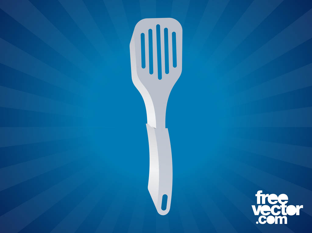 Metal Spatula Vector