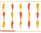 Fashion Silhouettes Vectors