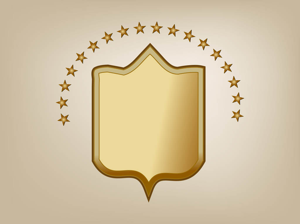 Bronze Shield Vector