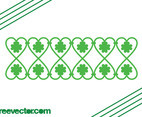 Border With Clovers