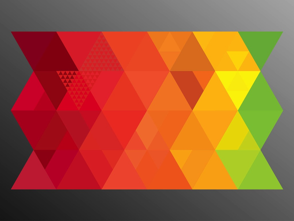 triangle colorful triangles art - photo #2