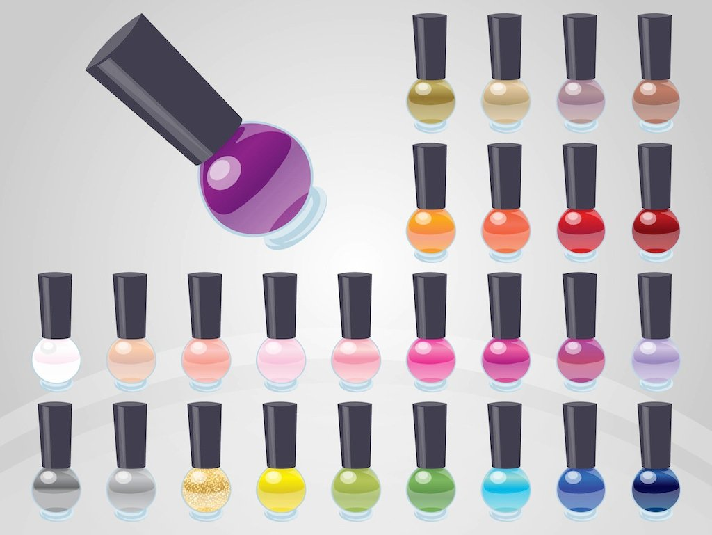 nail polish clipart vector free - photo #2