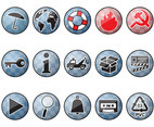 Shiny Round Icons