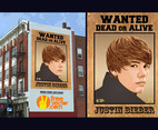 Justin Bieber Wanted Poster