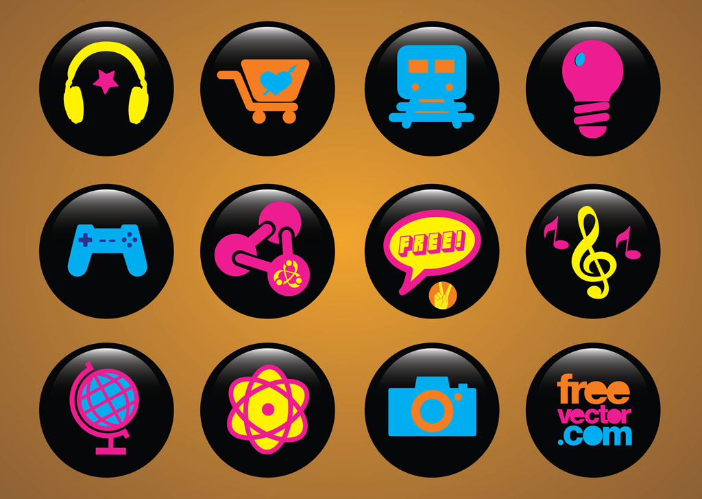 Icons Buttons