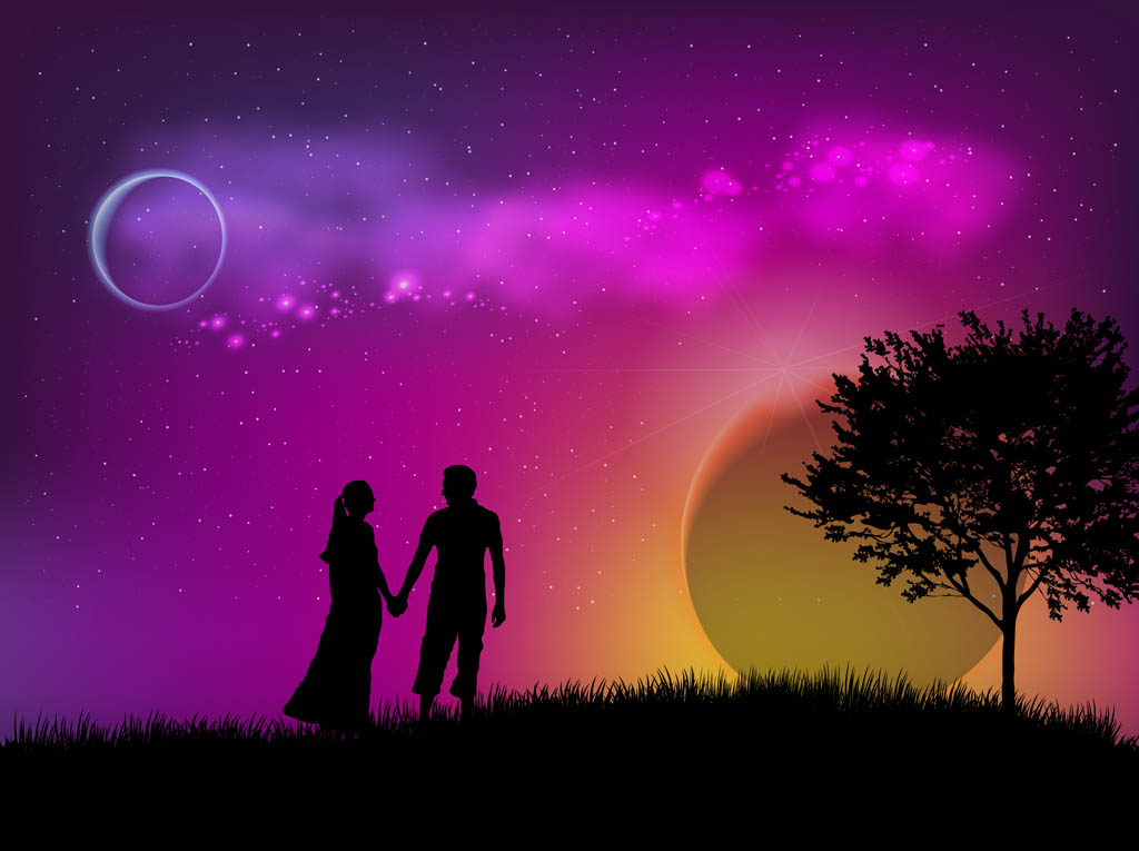 Romantic Date Vector