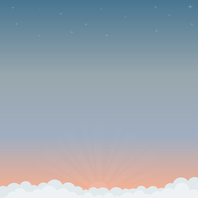 Modern Sunset Vector Background