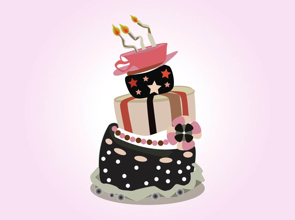 Vector Birthday Cake Vector Art Graphics Freevector