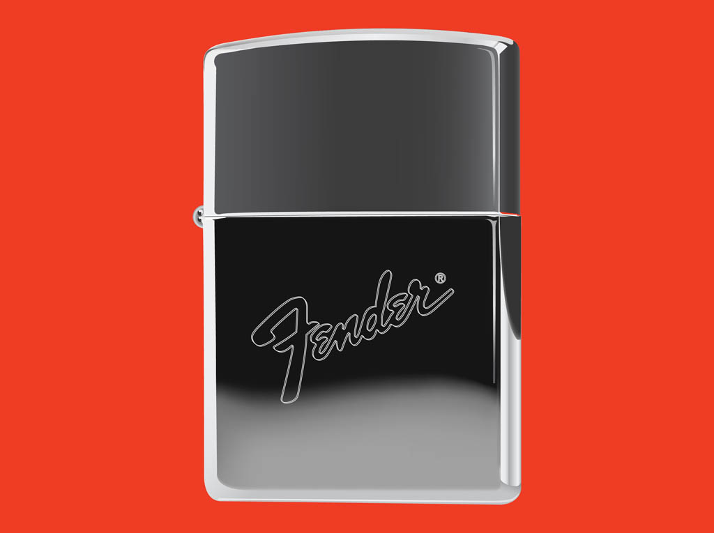 Zippo Lighter With Fender Logo