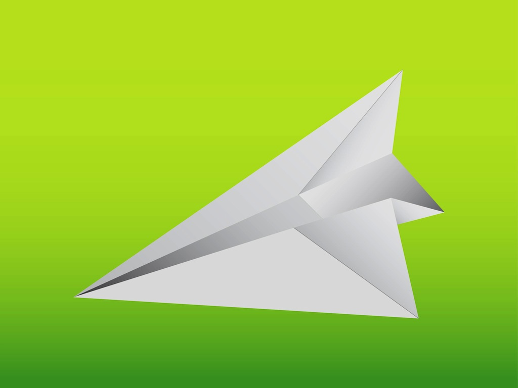 Paper plane or origami airplane icon set - Vector illustration ... | 768x1024