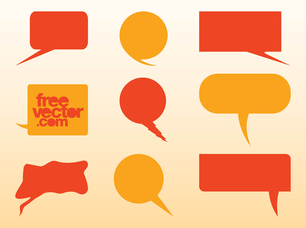 Speech Balloons Vector