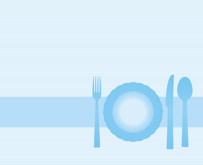 Free Vector Blue Plate Background
