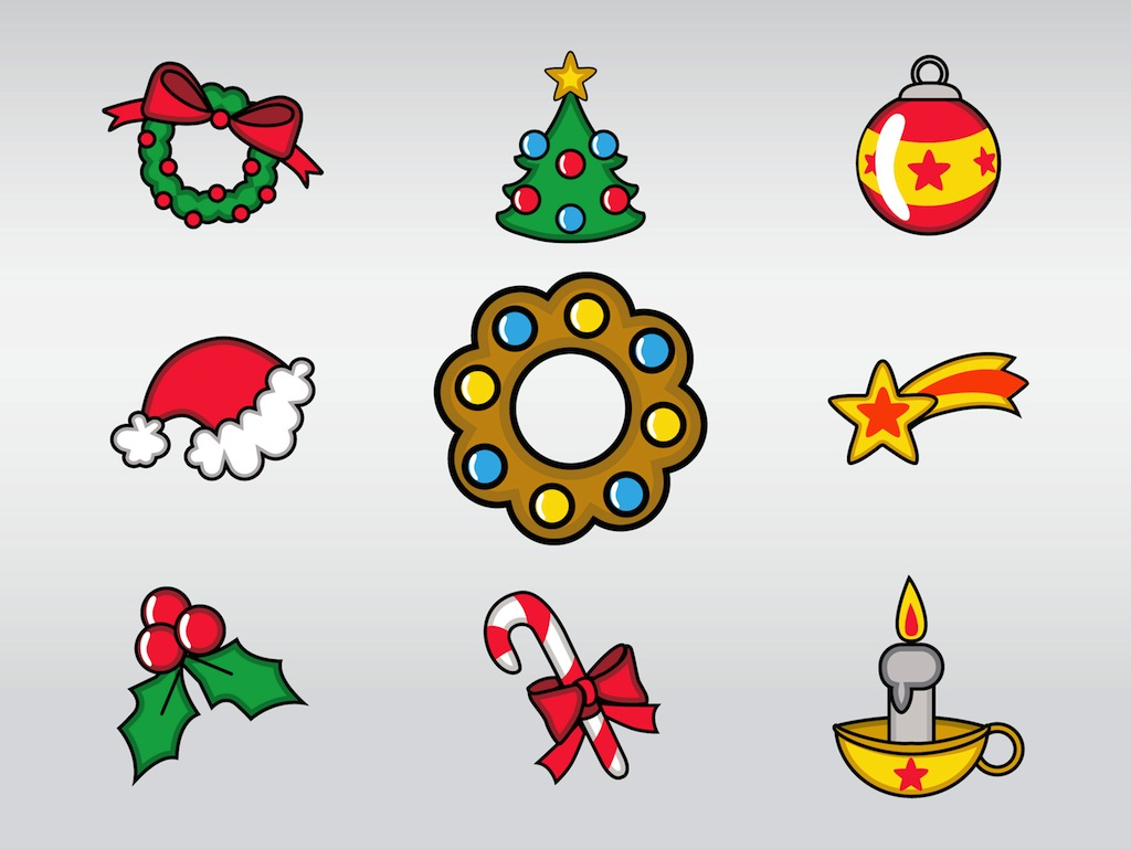 Xmas decoration vector art graphics for Drawing decoration ideas