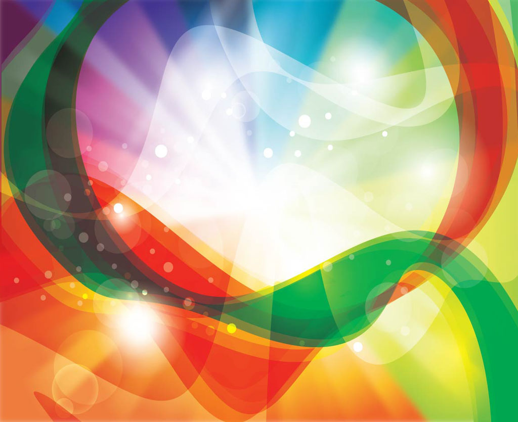 Colorful abstract design background vector art free vector - Rainbow Swirls Background