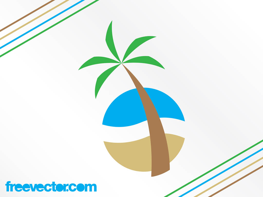 Tropical Beach Logo Vector Art & Graphics | freevector.com