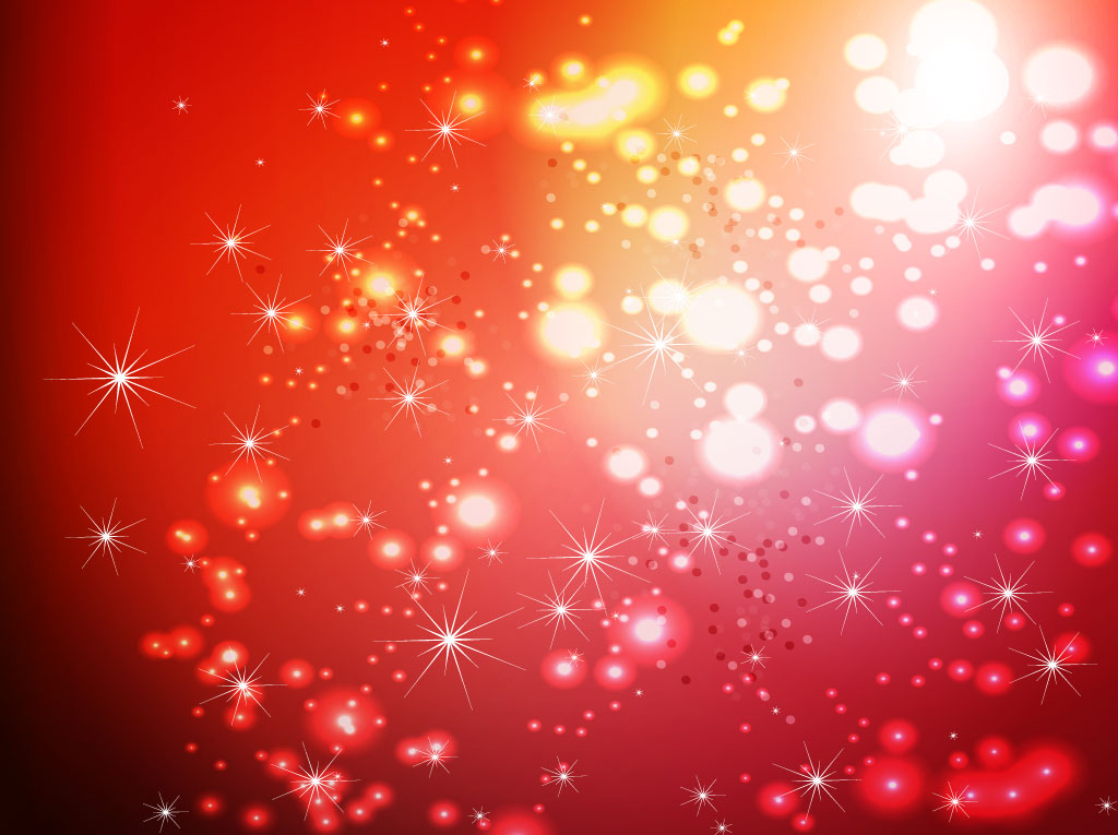 Red Sparkles Vector